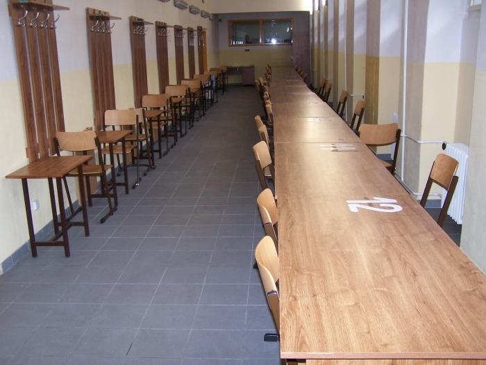 Návštěvní místnost, kde jsem se později setkával s rodiči a přáteli.